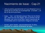 nacimiento de isaac cap 21