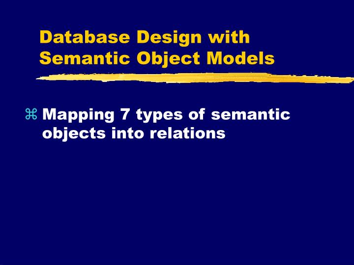 database design with semantic object models n.