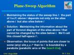 plane sweep algorithm