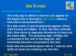 site events