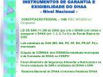 instrumentos de garantia e exigibilidade do dhaa n vel nacional