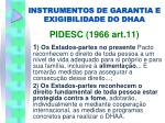 instrumentos de garantia e exigibilidade do dhaa1