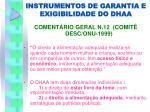 instrumentos de garantia e exigibilidade do dhaa2