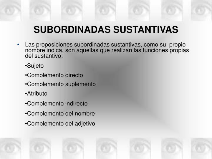 Subordinadas sustantivas1