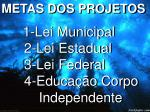 1 lei municipal 2 lei estadual 3 lei federal 4 educa o corpo independente