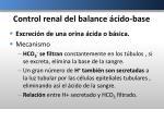 control renal del balance cido base