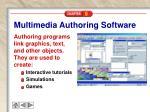 multimedia authoring software