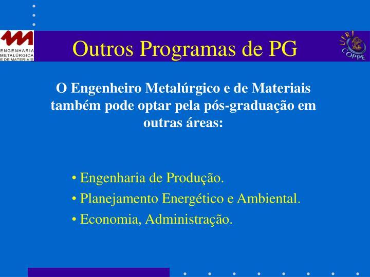 Outros Programas de PG