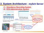 2 system architecture mysch server