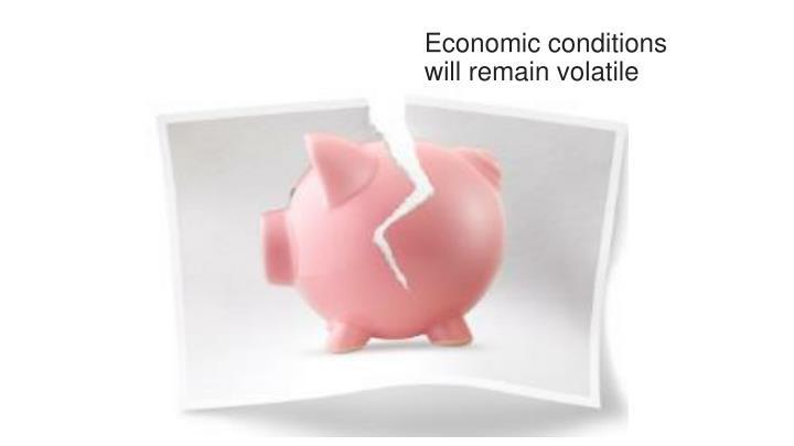 Economic conditions will remain volatile