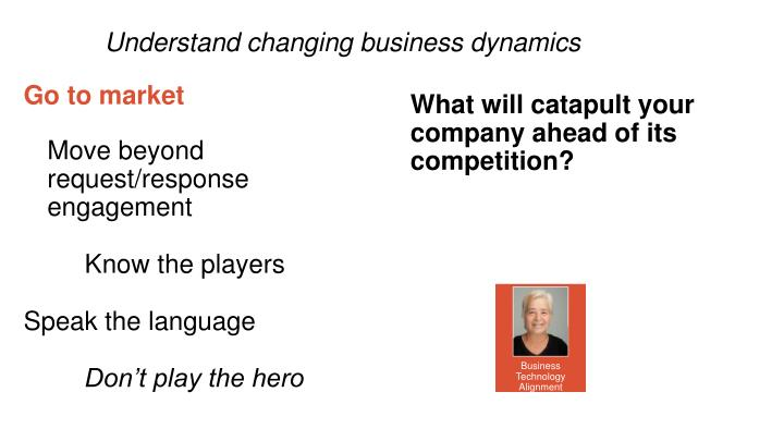 Understand changing business dynamics