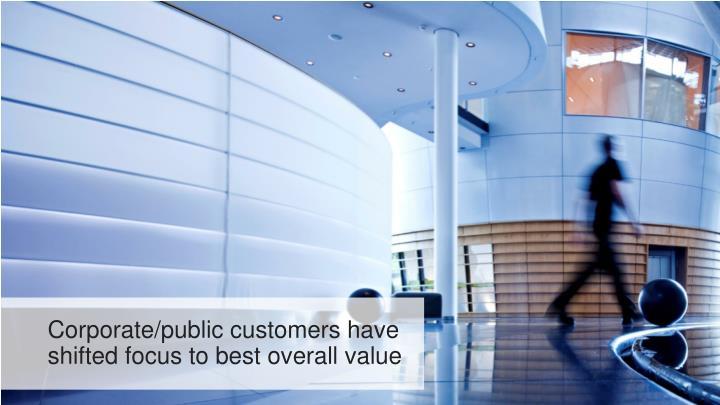 Corporate/public customers have