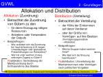 allokation und distribution
