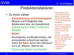 produktionsfaktoren