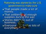 rationing was started by the u s government to make sure