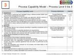 process capability model process level 0 bis 3