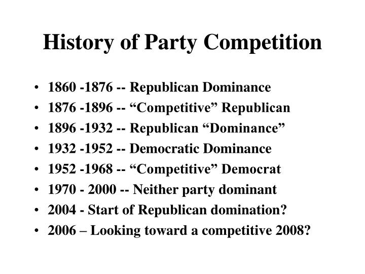 History of Party Competition