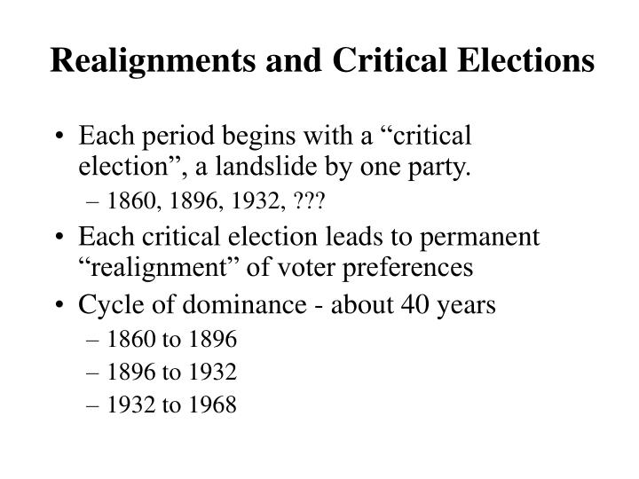 Realignments and Critical Elections