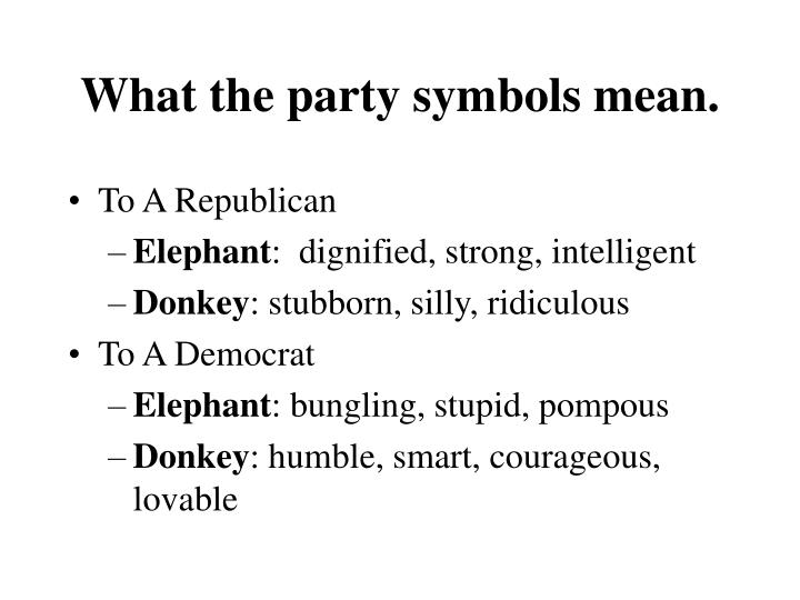 What the party symbols mean.