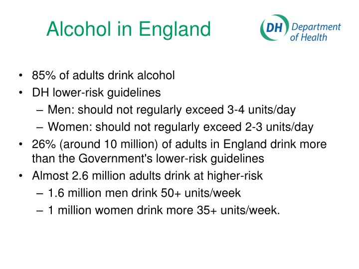 Alcohol in england