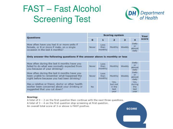 FAST – Fast Alcohol Screening Test