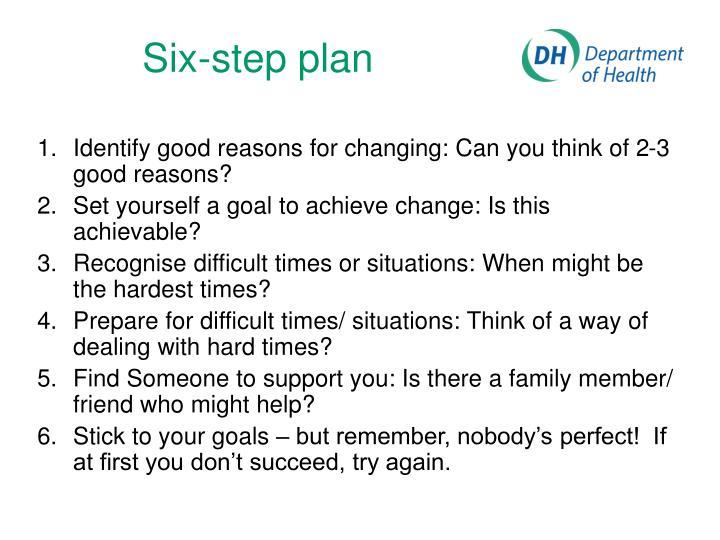 Six-step plan