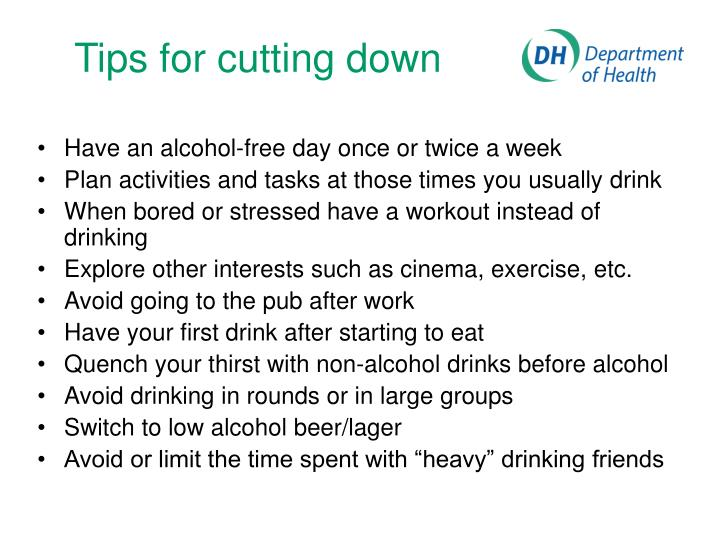 Tips for cutting down
