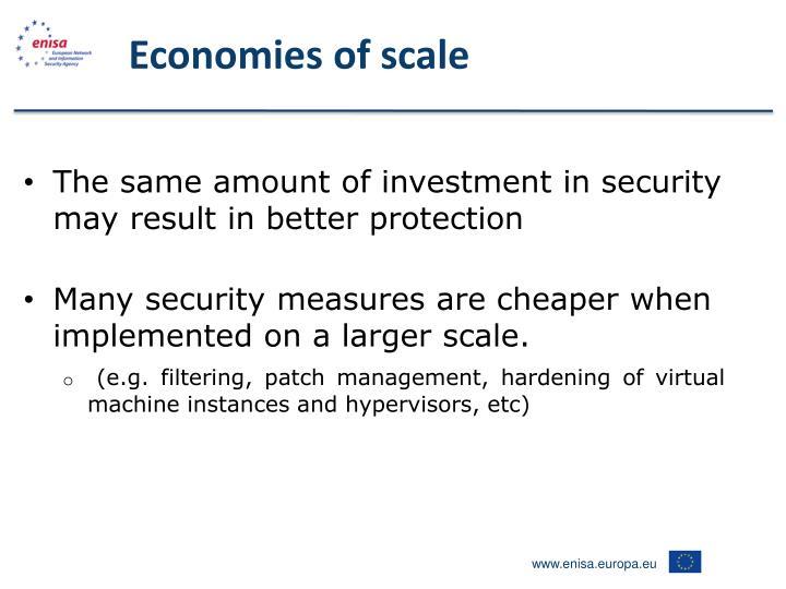 Economies of