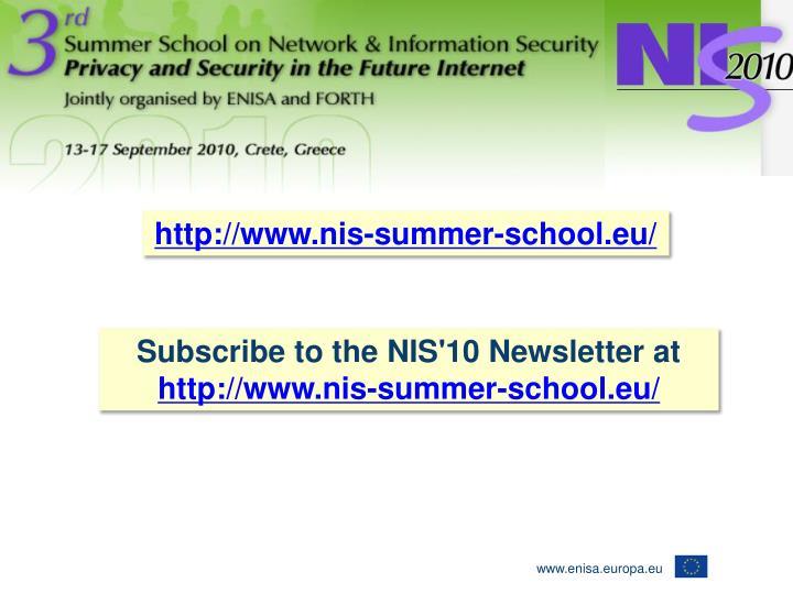 http://www.nis-summer-school.eu/