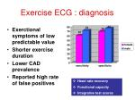 exercise ecg diagnosis