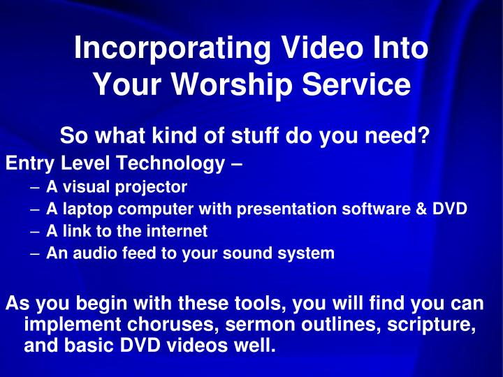 Incorporating Video Into Your Worship Service