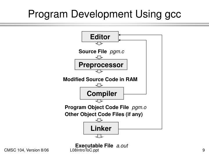 Program Development Using gcc