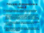 principio di proiezione e ruolo