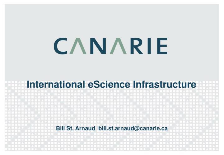 international escience infrastructure n.
