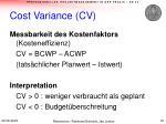 cost variance cv