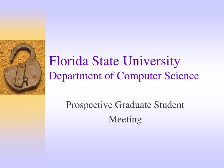 florida state university department of computer science n.