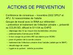actions de prevention