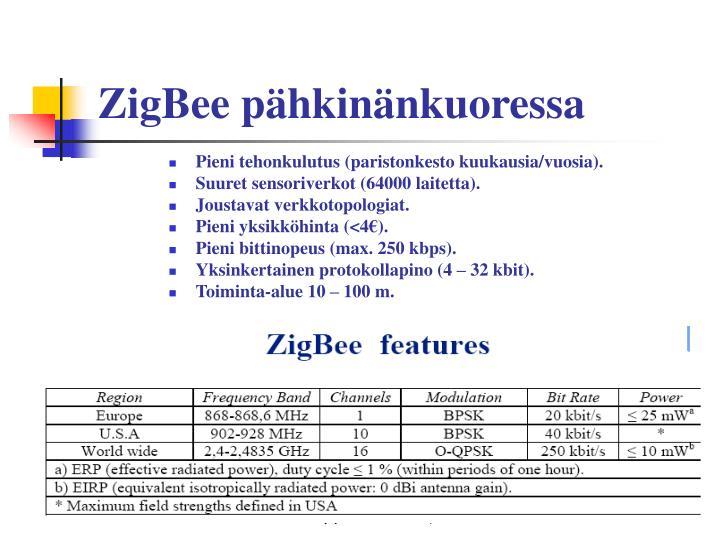 ZigBee pähkinänkuoressa