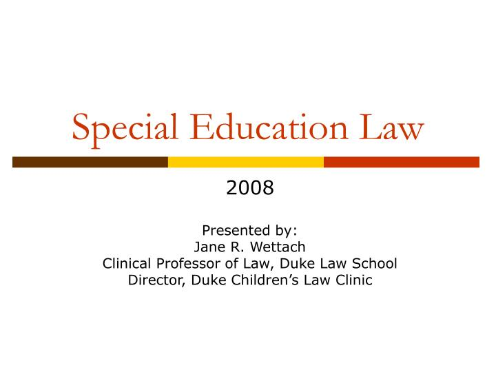 special education law n.
