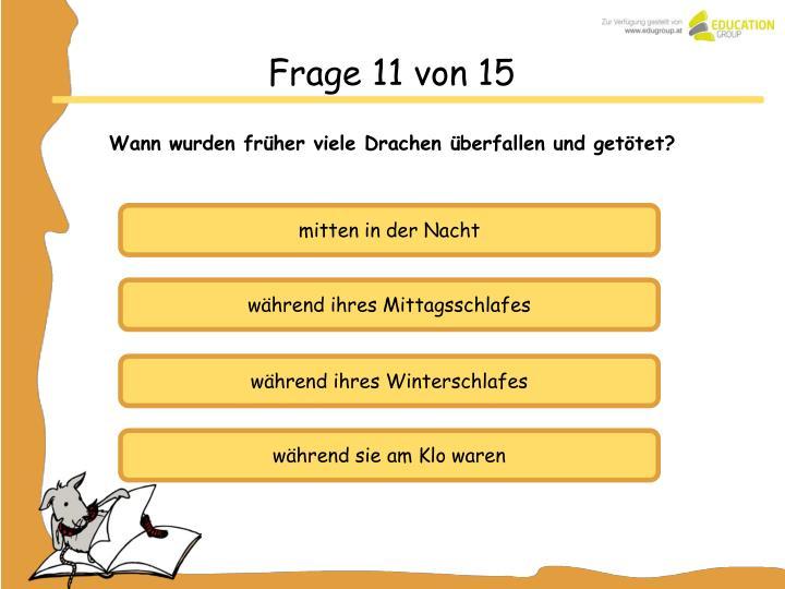 Frage 11 von 15
