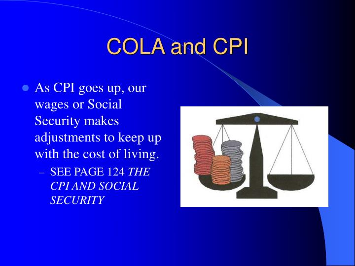 COLA and CPI
