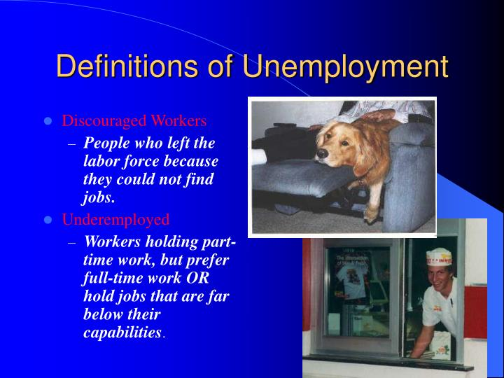 Definitions of Unemployment