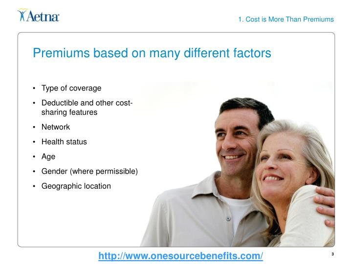Premiums based on many different factors
