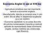economia angliei n sec al xvii lea