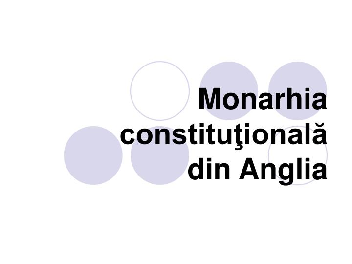 monarhia constitu ional din anglia n.