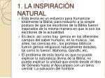 1 la inspiraci n natural