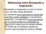 diferencias entre revelaci n e inspiraci n