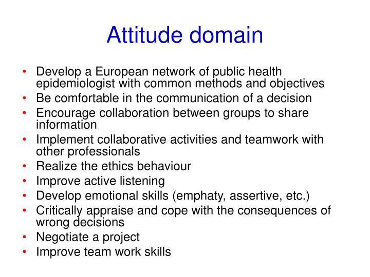 Attitude domain