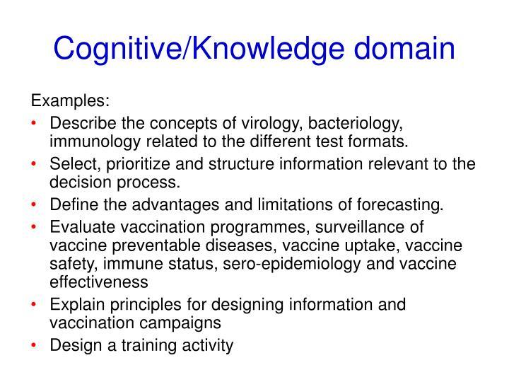 Cognitive/Knowledge domain