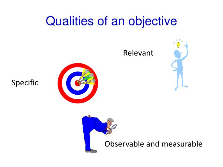 Qualities of an objective